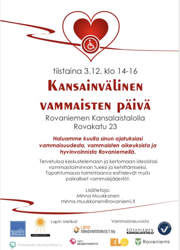 Kansainvalinen Vammaisten Paiva Rovaniemen Kuulo Ry