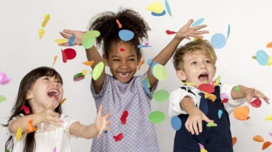 Gorup of Kids Party Event Festive Celebration