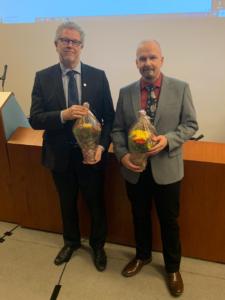 Hallituksen puheenjohtaja Jouni Aalto ja varapuheenjohtaja Janne Alkki.
